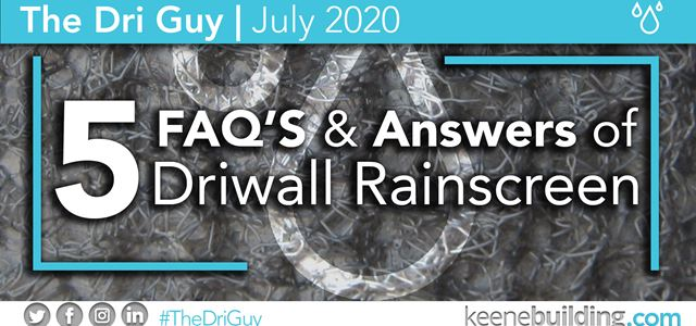 5 FAQ's of Driwall Rainscreen | #TheDriGuy