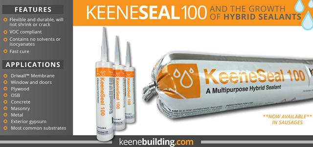 KeeneSeal 100 & the Growth of Hybrid Sealants