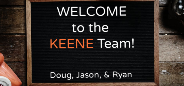Keene Building Products Welcomes Three New Employees