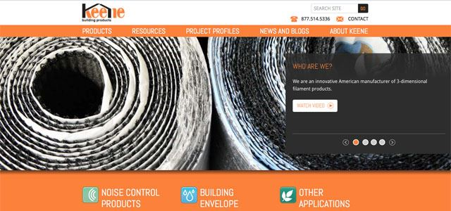 Keene Building Products' Gets Website Makeover